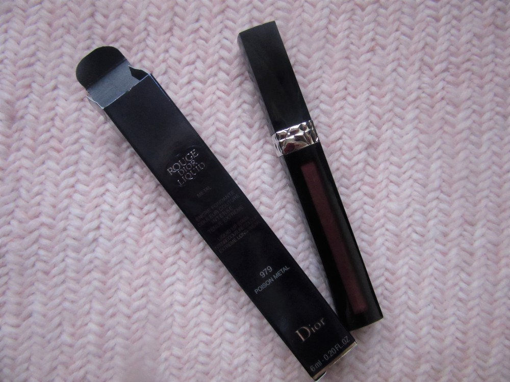 Dior liquid rouge 979 poison metal tube
