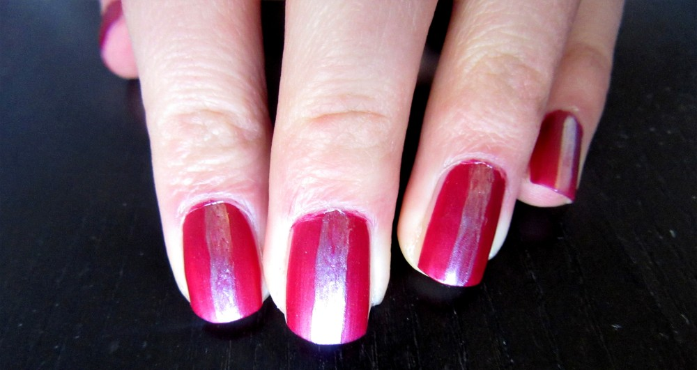 Easy stripe nails step 2