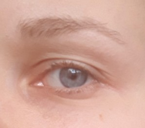 Brows without any powder side
