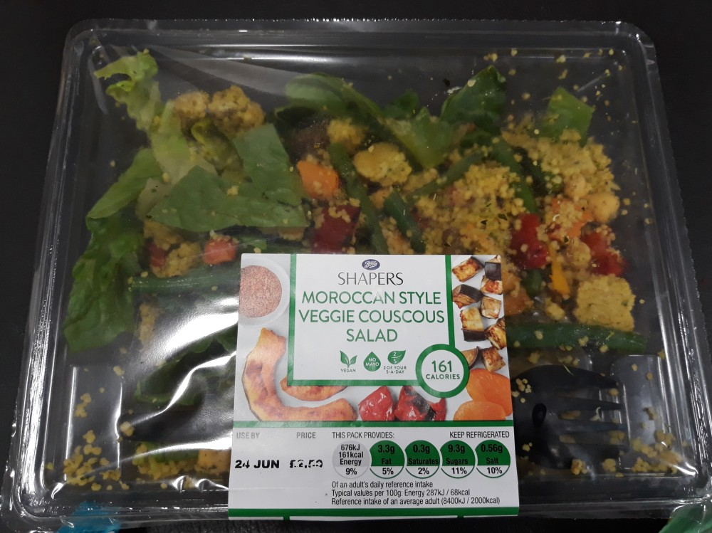Boots vegan meal deal veg couscous salad