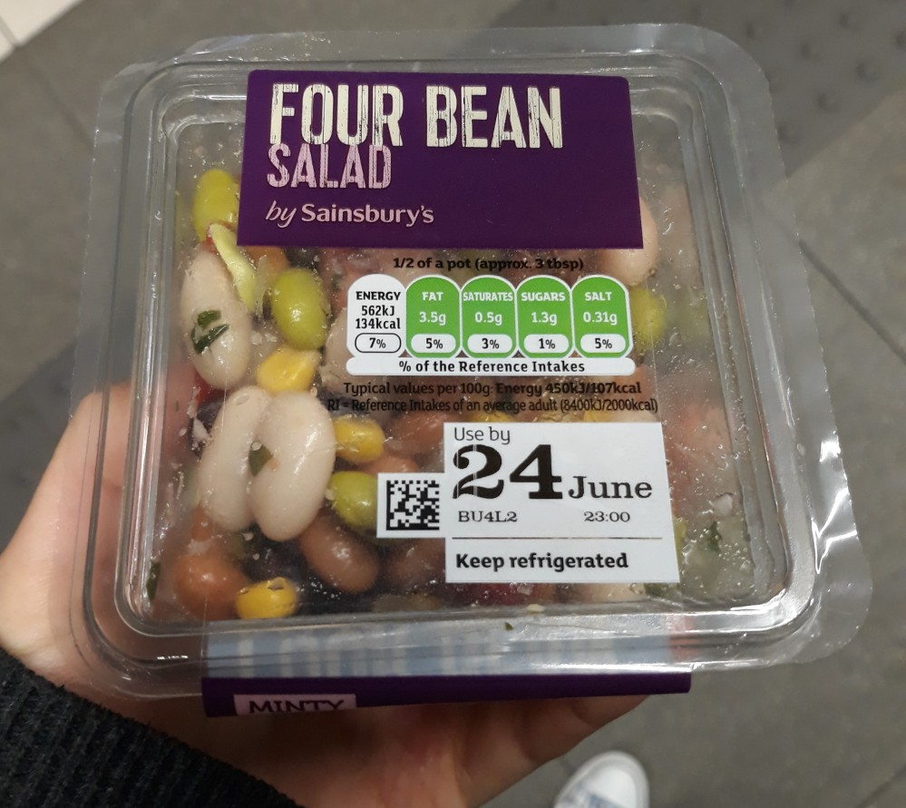 Sainsbury's four bean salad vegan