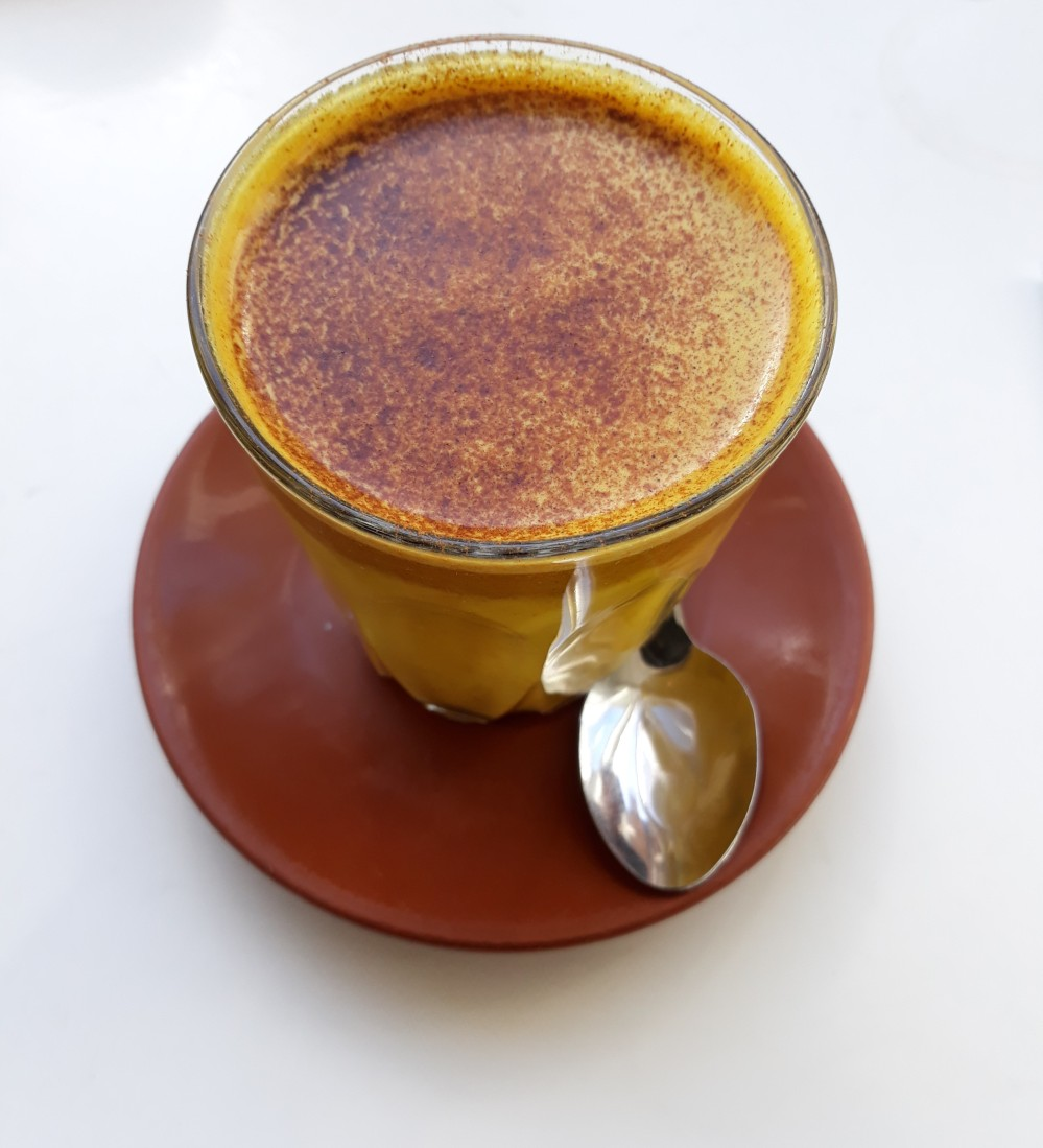 Turadh tumeric latte with almond milk