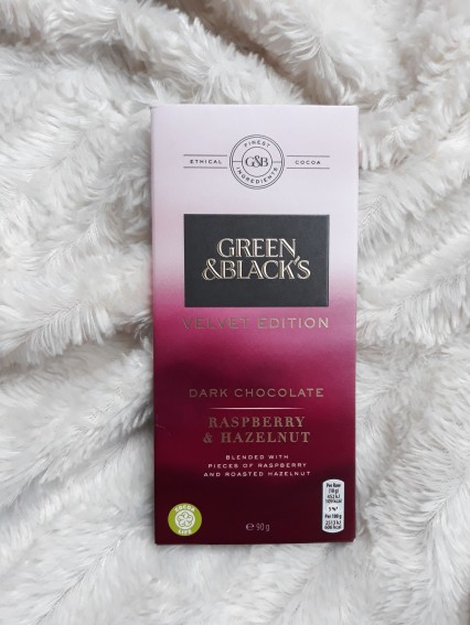 Green & Black raspberry and hazelnut chocolate