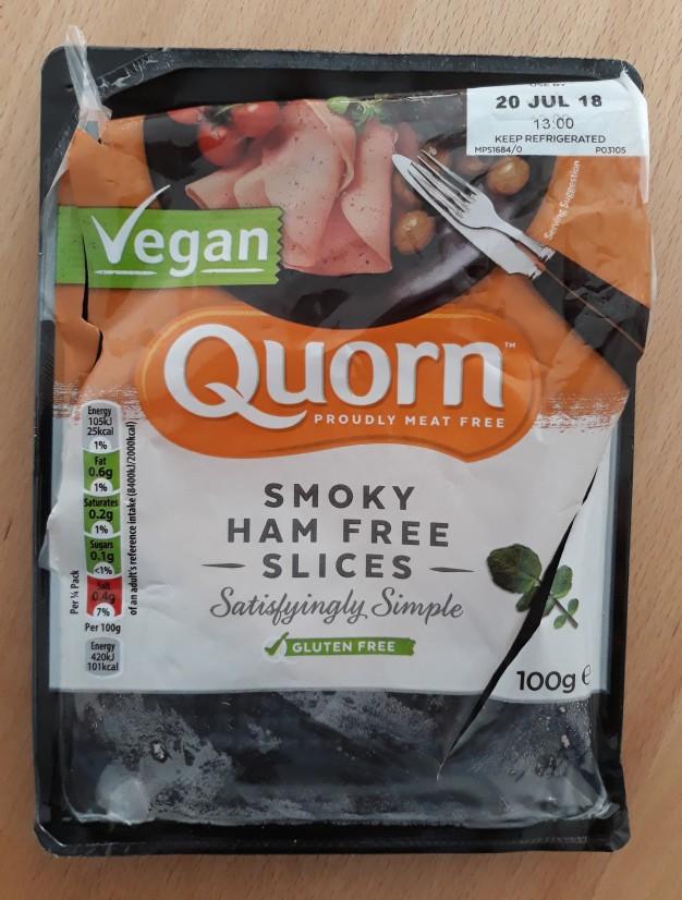 Quorn ham free vegan slices smoked
