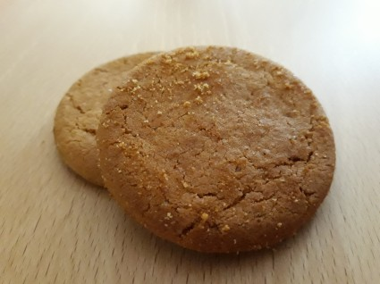 Tesco ginger nut biscuits close-up