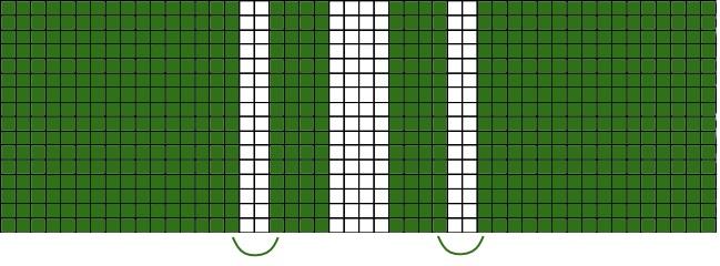 Pattern Slytherin scarf knitting
