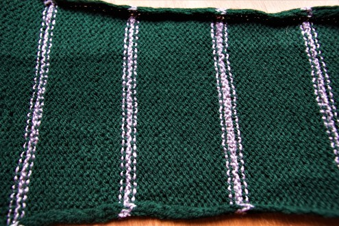 Slytherin scarf back