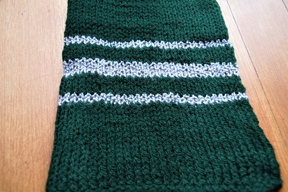 Slytherin scarf end