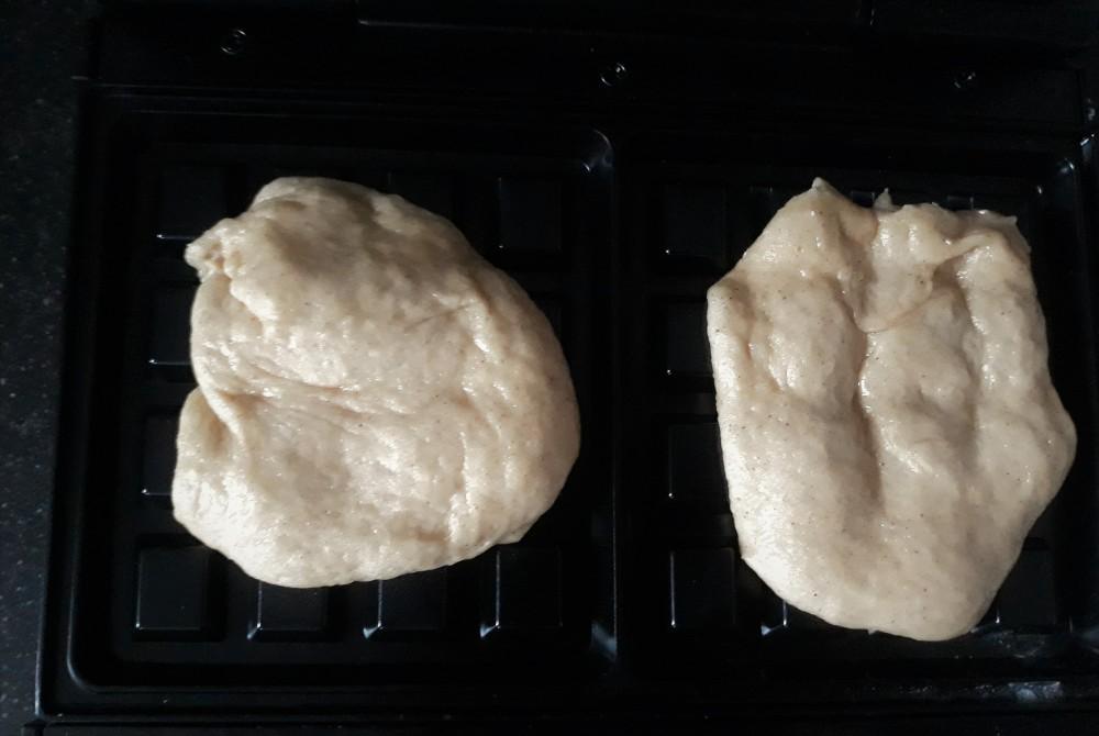 Liege waffle dough before baking