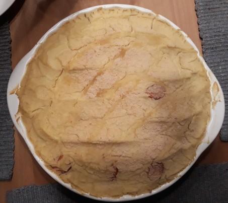 Sauerkraut casserol after baking