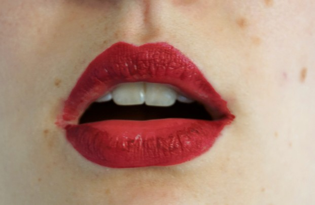 YSL lip tatouage couture matte stain 8 after eating open